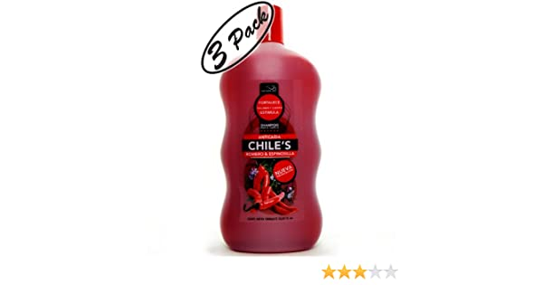 Amazon.com : CHILI Rosemary Hair Growth Shampoo CHILE Aji Romero Espinosilla Champu Anticaida Cabello 3-PACK : Hair Regrowth Shampoos : Beauty
