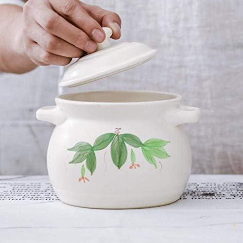 ZJZ Casserole en céramique Pot à ragoût en Terre Cuite Casserole en céramique Casserole en céramique, Stockage de Chaleur et Isolation, 2.6L