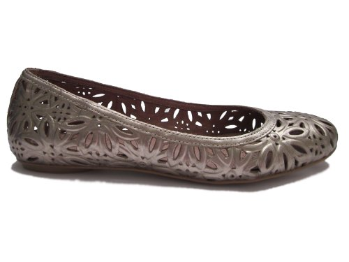 New Corso Como Womens Floral Flats In Ottone Brunito Vitello
