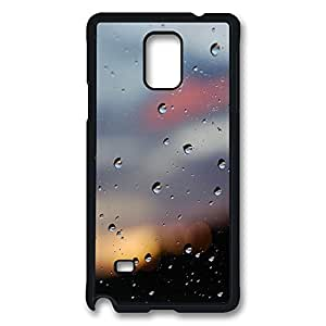 VUTTOO Rugged Samsung Galaxy Note 4 Case, Water Drops Glass Bokeh Customize Hard Back Case for Samsung Galaxy Note 4 N9100 PC Black