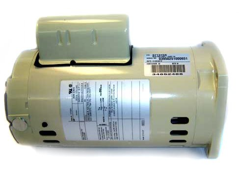 Pentair 071313S Almond Single Phase 3/4 HP Square Flange Motor Replacement Inground Pool and Spa Pump, Appliances for Home