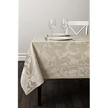 Amazon Com Tablecloth Damask 60 X 144 Oblong White