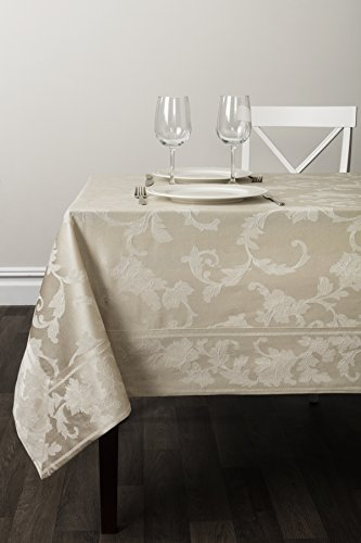 Benson Mills Harmony Scroll Tablecloth (Birch, 60
