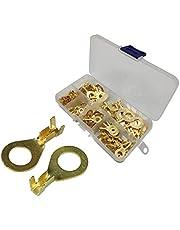 150 stuks ring kabelschoenen kabelschoen ring M8 kabelschoenen platte stekker messing kabelstekker ring terminals met kunststof doos uitstekende elektrische geleiding corrosiebestendigheid