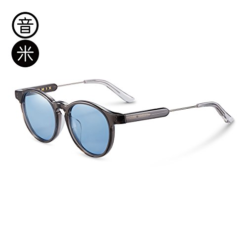 Round gray De Designer Decoration Transparent De Sol Gafas Gafas Hombre Transparent Sunglasses Car Sol Frame Lens Grey Gift Uv Birthday LLZTYJ Wild Wind Outdoor nS8vWwgHgq