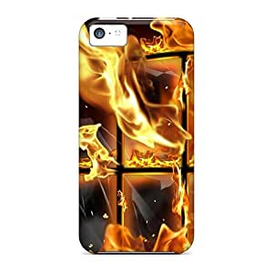 High-end Cases Covers Protector For Iphone 5c(fire)