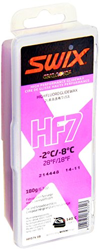 Swix HF07X-18 Cera Nova X High Fluoro Wax, Pink, 180gm by Swix