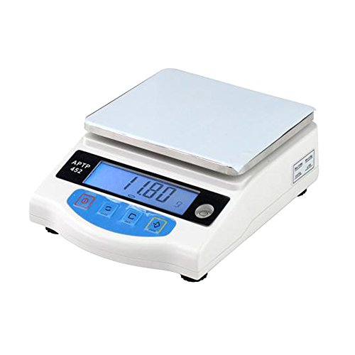 (2KG Electronic Scale Industrial Analytical Balance 2000g/0.01g Jewelry Lab Kitchen Scales with Power Supply)