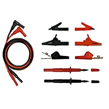 Silicone Test Lead Kit #11 - Small/Large/ABN Alligator Clip, Test Probe for DMM by Fluke, Craftsman, etc.