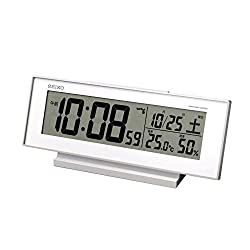 Seiko CLOCK clock 'visible Night' radio digital alarm clock (white) SQ762W