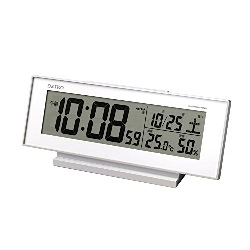 Seiko CLOCK clock 'visible Night' radio digital alarm clock (white) (Seiko White Clock)