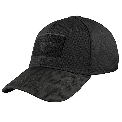 Ultimate Arms Gear Flex Stealth Black Cap (Black Stealth Fitted Hat)