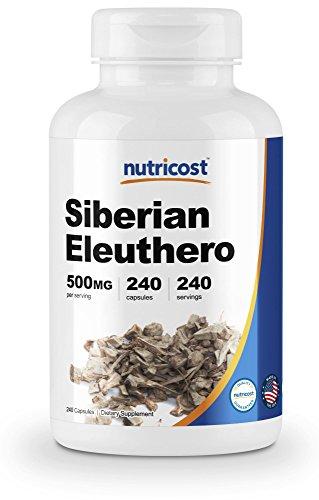 Nutricost Siberian Eleuthero 500mg, 240 Capsules – Eleutherococcus Senticosus – Gluten Free & Non-GMO
