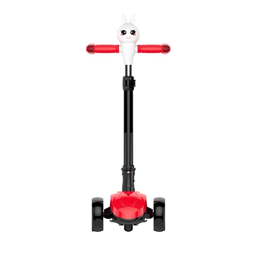 キックボード スクーター3-6-12歳のペダルスケートワイドホイールシングルフットスクーター幼児 軽量キックボード