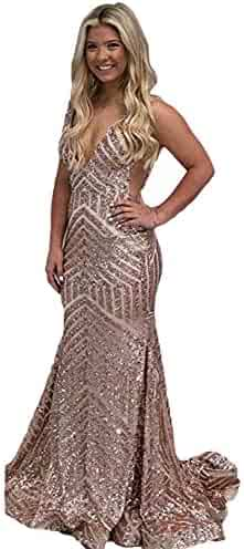 905d08c91ed2 Sequins Mermaid Evening Gowns Long Sleeves/Sleeveless for Women Wedding  Party E122