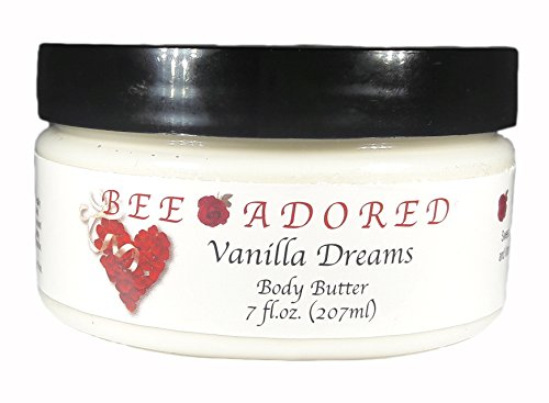 Bee Adored Body Butter, Vanilla Dreams, 8 Fluid Ounce - Vanilla Body Butter