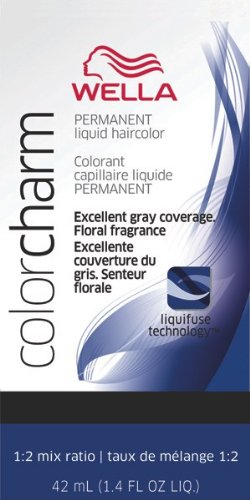 Wella Color Charm Liquid Permanent Hair Color - #50 - Cooling Violet 42 ml (Pack of 6)