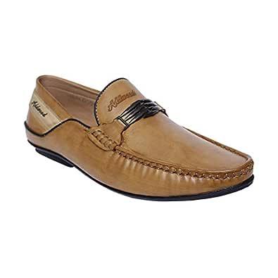 DesiJutta Beige Slip On Shoes For Men, 6 UK