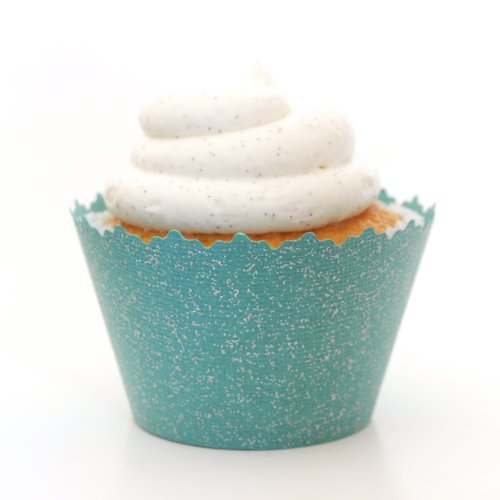 Cupcake Wrappers Glitter- Adjustable - Set of 12 (Deep Teal)]()