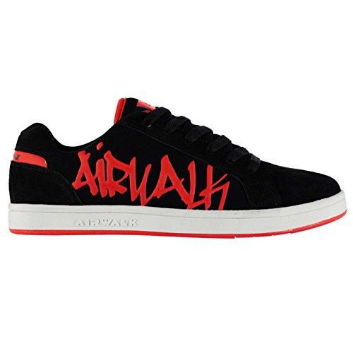 Airwalk Neptune Skate Schuhe Schwarz/Rot Herren Turnschuhe Sneakers Schuhe