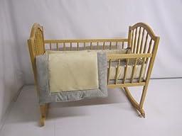 Baby Doll Bedding Zuma Cradle Bedding Set, Grey/Beige