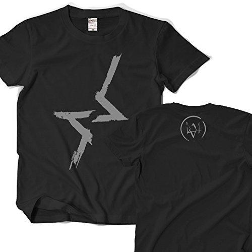 Watch Dogs T-shirt Black Fashion Cosplay Happy Yohe (S)
