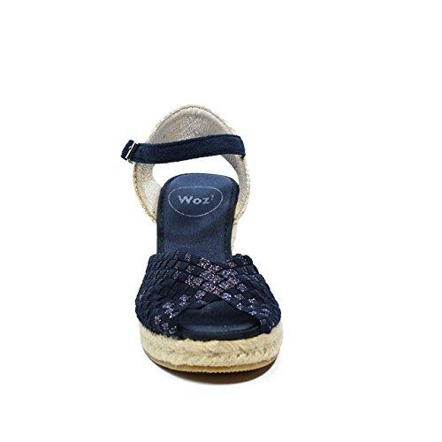 Woz UP361 Sandalo Elastico Spuntato Corda 70 BLU nuova collezione primavera estate 2017