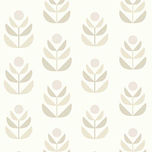 Beacon House 2535-20619 Oslo Geometric Tulip Wallpaper, Beige ()