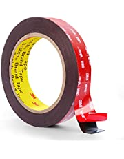 Double Sided Tape, 3M Very High Bond Waterproof Mounting Tape, 16ft X 1IN Width VHB Heavy Duty Foam Tape for LED Lights Hanging, Car Home Office Decor(1.1mm Thickness)
