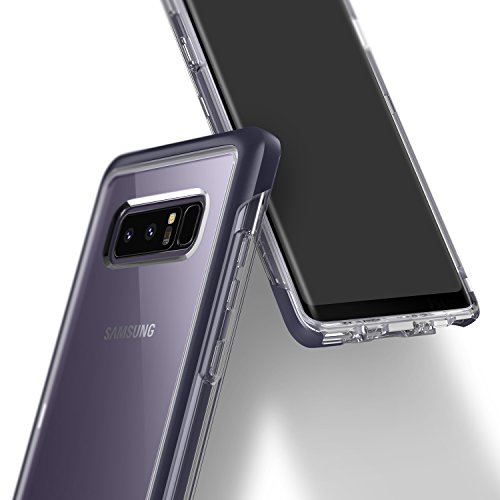 Galaxy Note 8 Case, Caseology [Skyfall Series] Slim Transparent Clear Scratch Resistant Protective Cover for Samsung Galaxy Note 8 (2017) – Orchid Gray