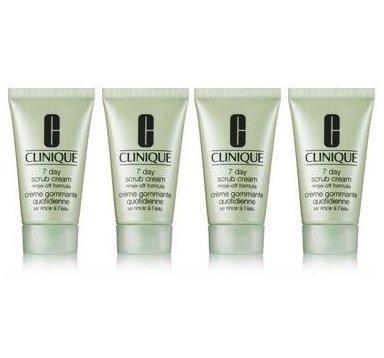 Clinique 7 Day Scrub Cream Rinse-Off Formula 4oz (Set of 4 x 1oz tubes each) ()