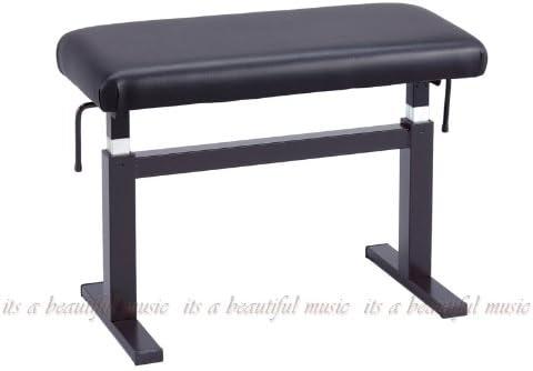 ピアノ椅子 ガスリフト スペイン HIDRAU BM-45H (黒/黒座面)
