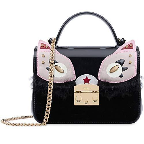 - Furla Candy Ginger Mini Ladies Black Onyx PVC Crossbody 978625