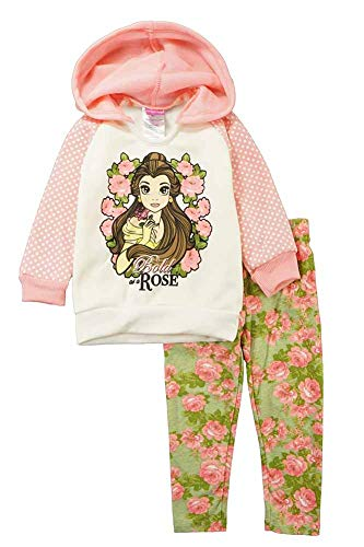 Disney Toddler Girls' 2 Piece Belle Legging Set, Peach, ()