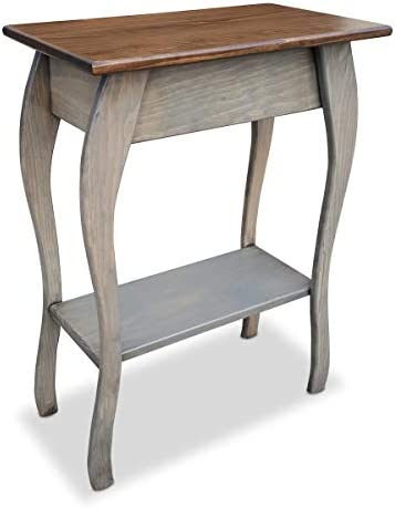 Reviewed: Slim Wooden End Table Amish Furniture   Thin Narrow Side Tables