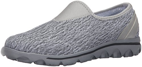 Propet Women's Travelactive Slip-on Oxford, Black/White Heather, 12 2E US W5104