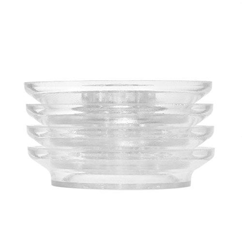 ammoon 4pcs/ set Transparent Plastic Upright Piano Caster Cups Pads