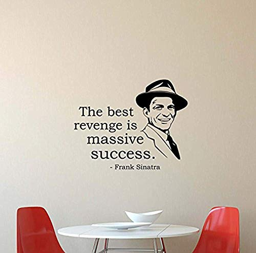 Frank Sinatra Vinyl Wall Decal The Best Revenge is Massive Success Quote Music Gift Vinyl Sticker Home Bedroom Nursery Decor Art HDS3825