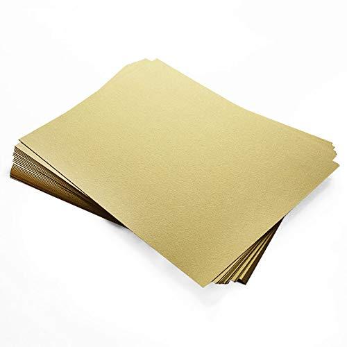 Curious Metallics Gold Leaf Cardstock - 8 1/2 x 14, 92lb Cover, 25 - Cardstock Paper Curious Metallic