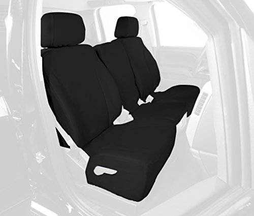 Saddleman Front Custom Fit Seat Cover for Select Chevrolet Silverado 1500 Models - Canvas Fabric (Black) (S 049767-01)