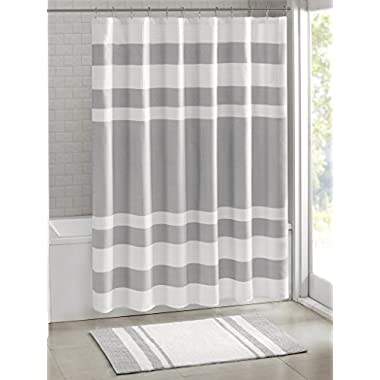 Madison Park MP70-1484 Spa Waffle Shower Curtain 72x72  Grey,72x72