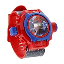 Kids Bazaar 24 images Spiderman Projector Watch for kids, Best for Birthday & Return Gift (Red)