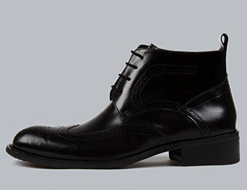 HWF Scarpe Uomo in Pelle Scarpe da uomo in pelle Scarpe alte Scarpe da lavoro corto Martin Stivali in pizzo stile inglese (Colore : Nero, dimensioni : EU40/UK6.5) Nero