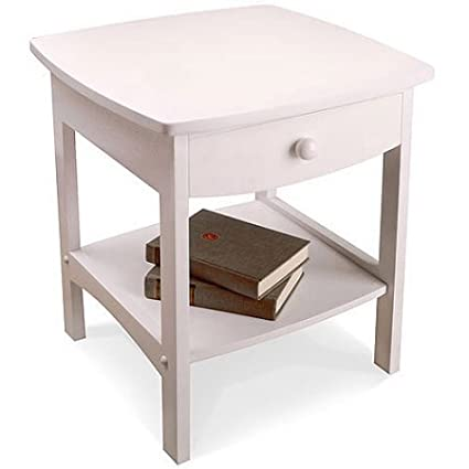 Etonnant Curved Nightstand / End Table, White