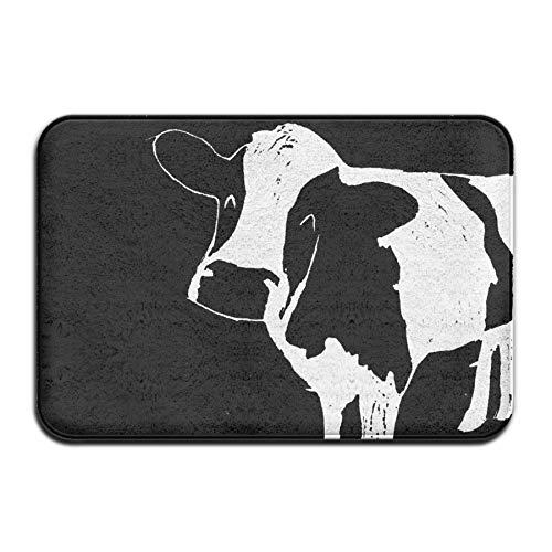 Funny Milk Cow,Entrance Mat Indoor Outdoor,Entry Garage Patio Shoe Rugs Front,Door Bathroom Mats Rubber,Non Slip (23.6