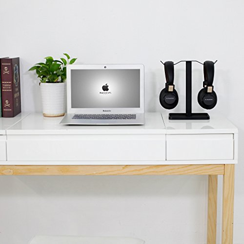 Neetto Dual Headphones Stand for Desk, Headsets Holder Hanger for Sennheiser, Sony, Audio-Technica, Bose, Beats, Akg, Gaming Headset Display Mount - HS908
