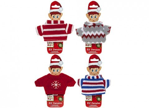 PMS 6ASST KNITTED SWEATERS FOR ELF W/BODY SHAPE INSERT CARD