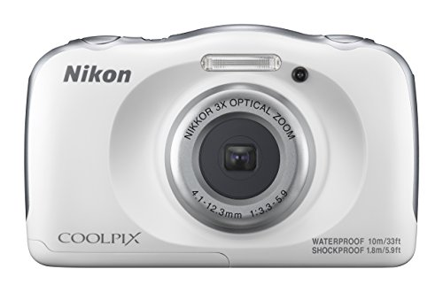 Nikon - Coolpix W100 13.2-megapixel Digital Camera - White