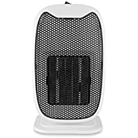Ingerik Direct Personal Ceramic Portable-Mini Heater Mini Ceramic Heater for Student Office Warm Heating Black and White Random