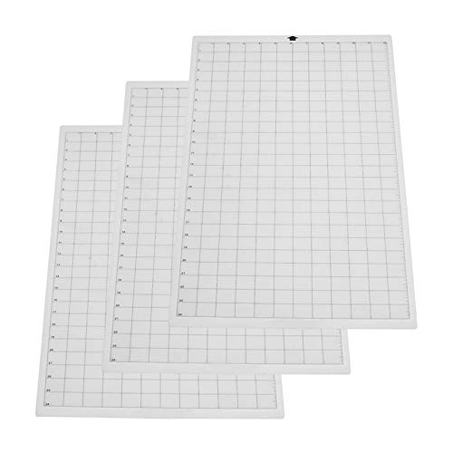 (TOOGOO 3Pcs Replacement Cutting Mat Transparent Adhesive Mat With Measuring Grid For Silhouette Cameo Cricut Explore)
